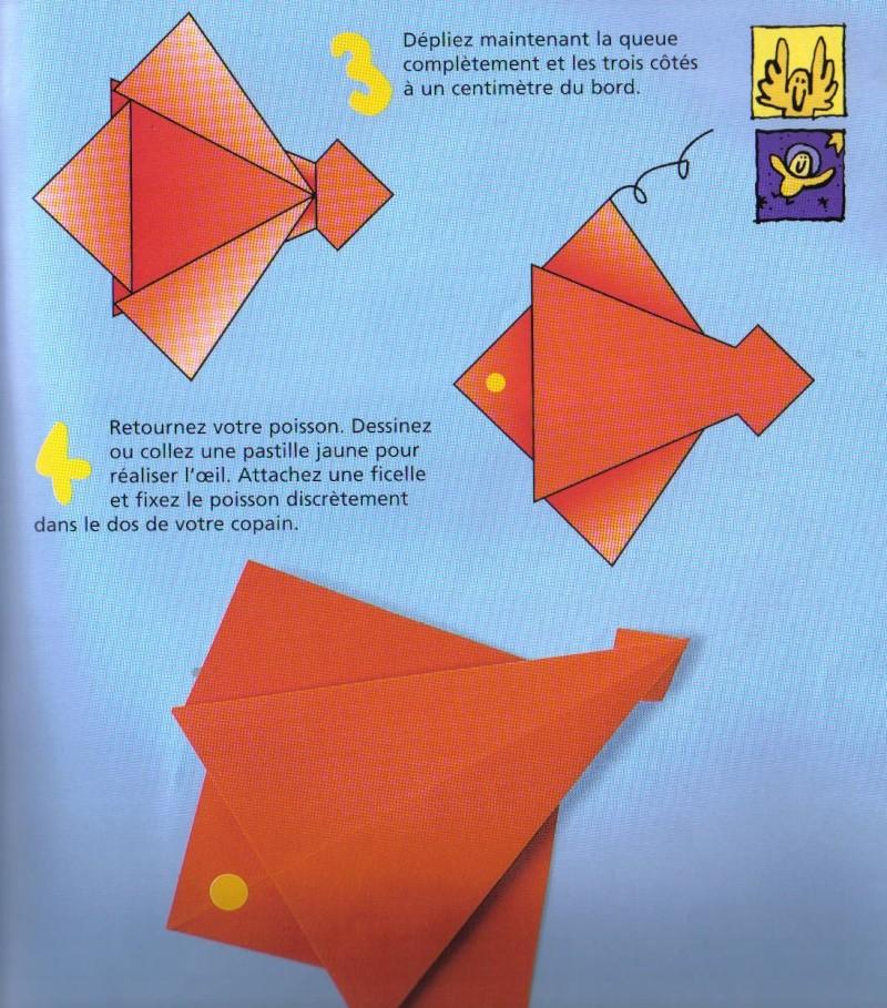 Origami poisson rouge educateur en milieu scolaire - Origami pour les petits ...