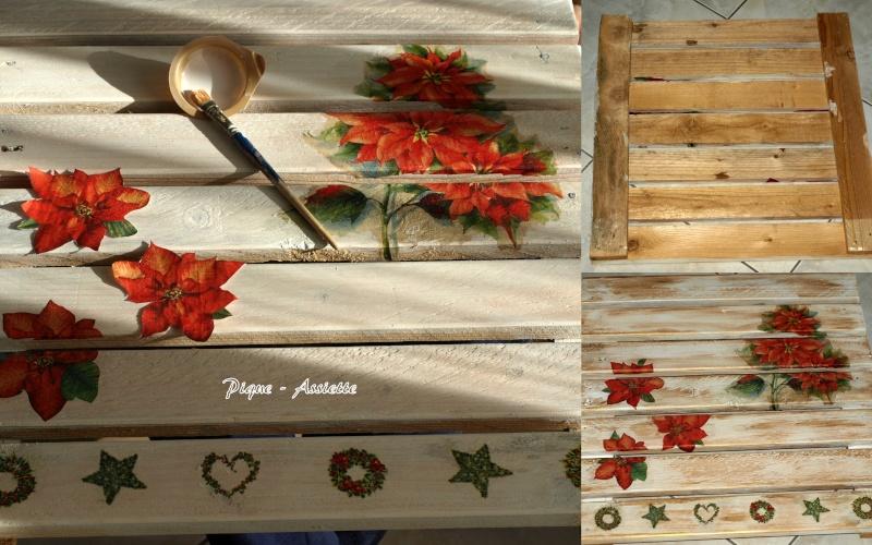 Petite d co de noel en bois et bonnes f tes a toutes et for Peinture cerusee sur bois