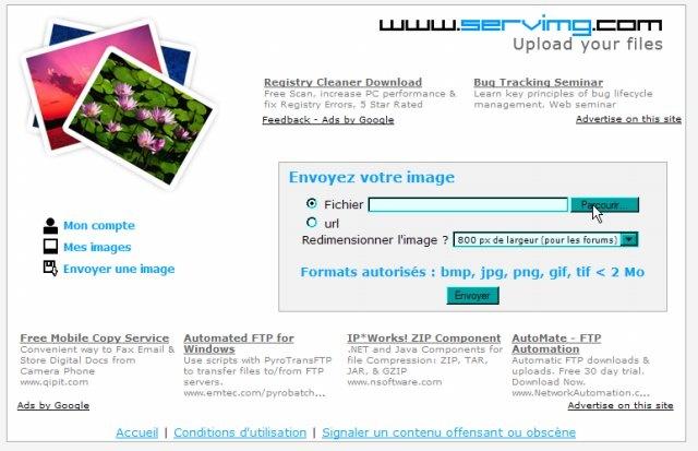 [Astuce] Insérer une image à l'aide de Servimg E411