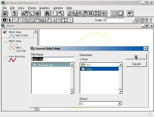 ARCVIEW กับงานที่อยู่ใช้ 1 A02010