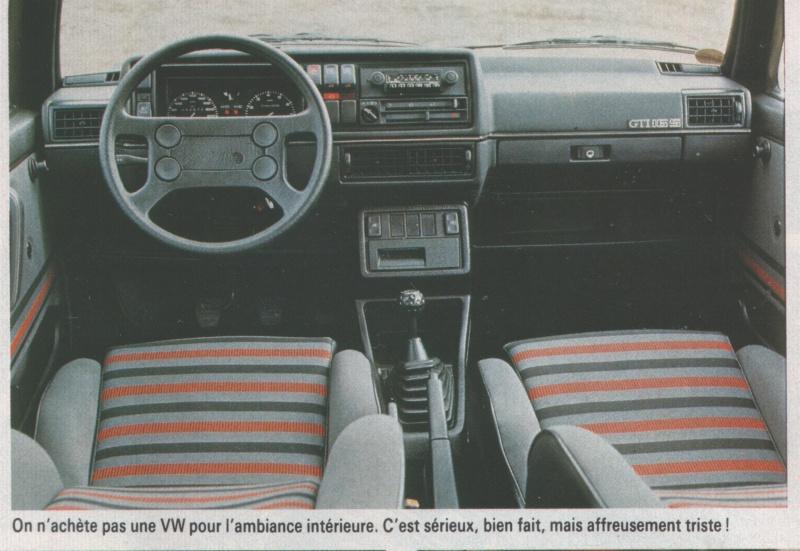 Volkswagen golf du 29 mars 1974 nos jours historique for Golf interieur montreal
