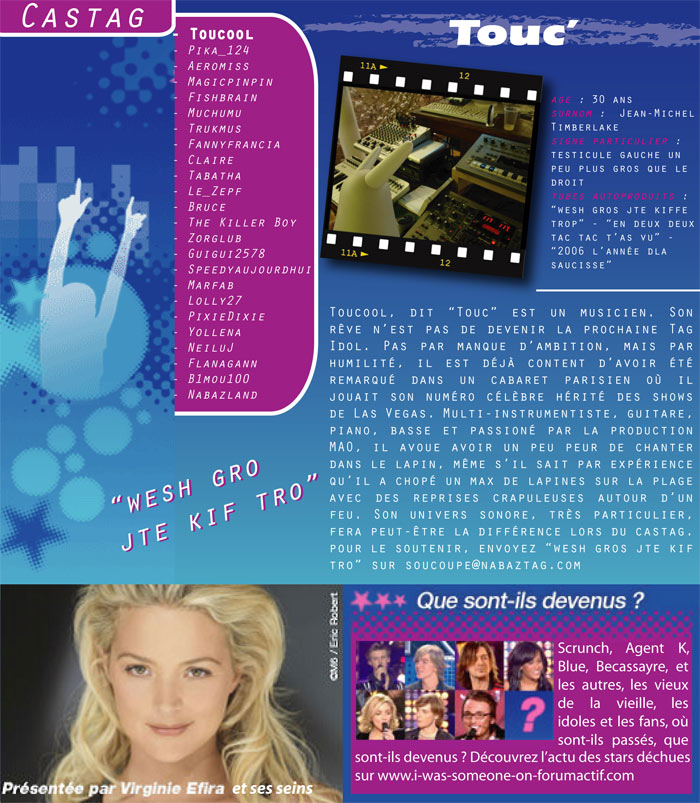 Soutenez Touc - Homepage M6 - Tag Idol Touc10