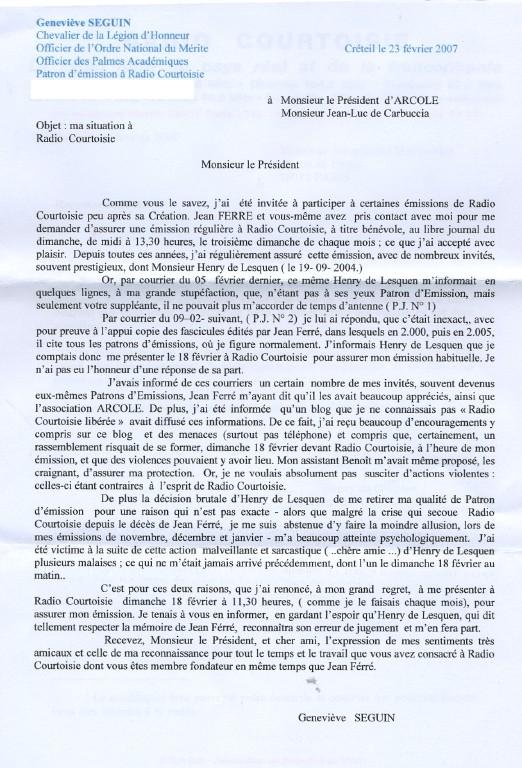 La lettre de Genevieve Seguin a JL de Carbuccia View10