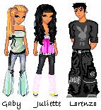 Gaby, Juliette et Lorenzo