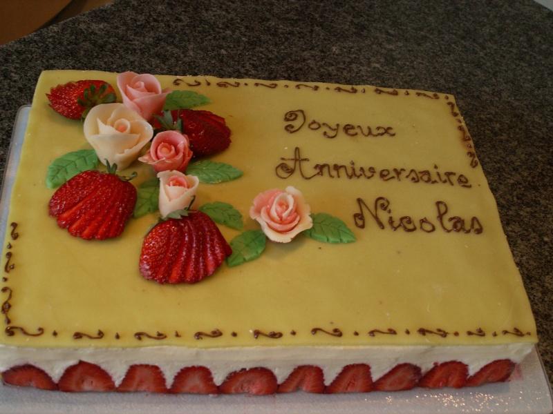 """Souvent Mon fraisier"""" partie 2: la génoise, le montage et la décoration  TT97"""