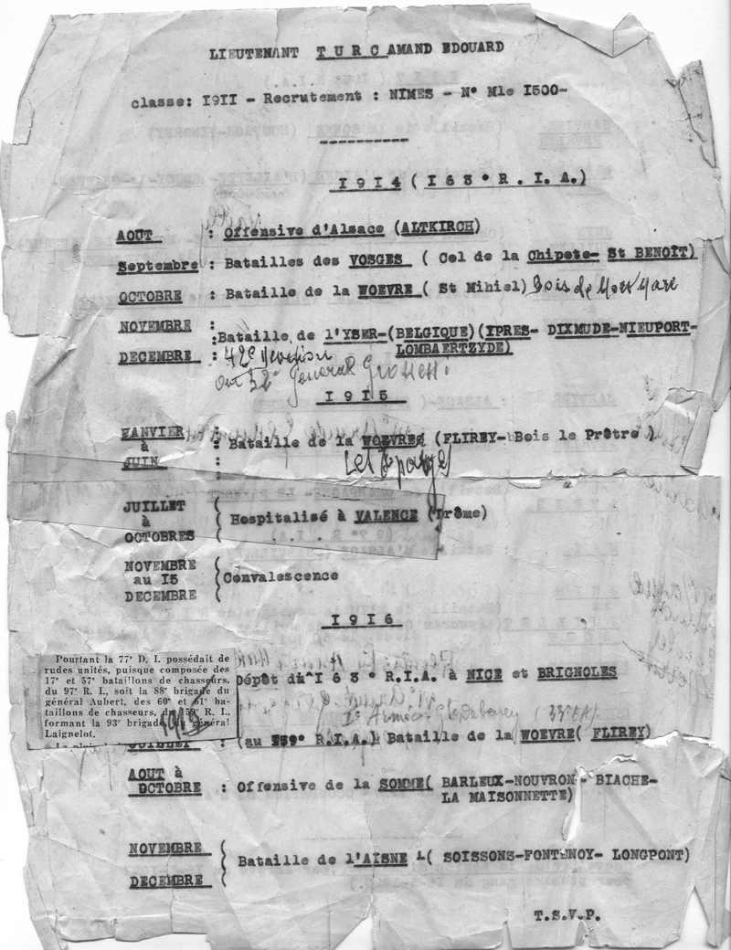 Parcours d'un combattant 1914 - 1918 Tonton13