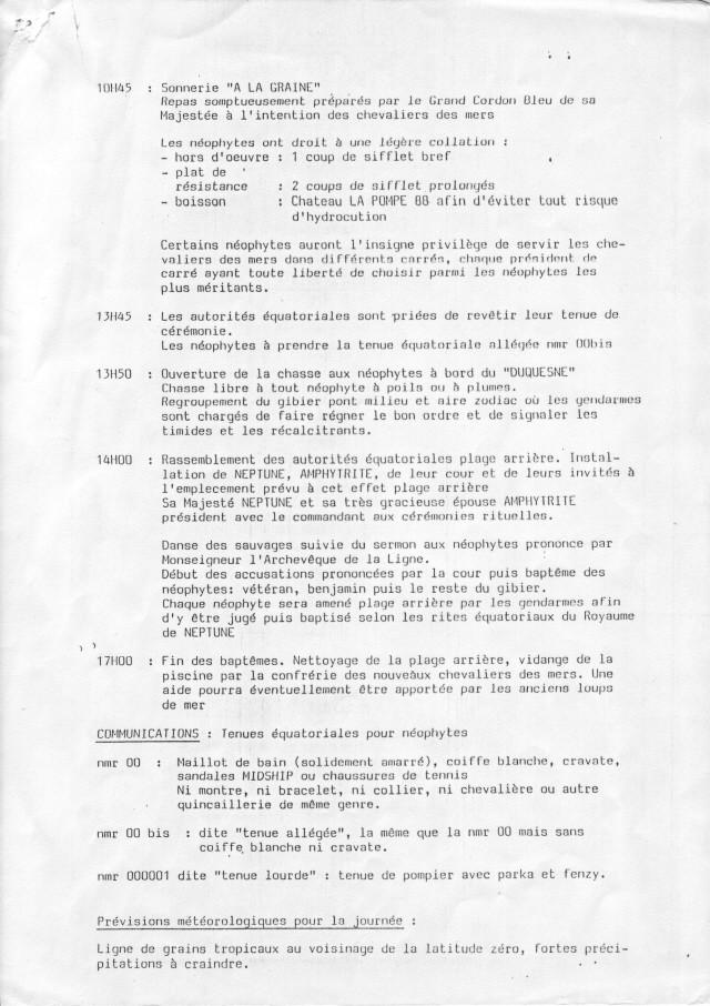 [ Les traditions dans la Marine ] LE PASSAGE DE LA LIGNE - ÉQUATEUR (Sujet unique) - Page 2 Passag14