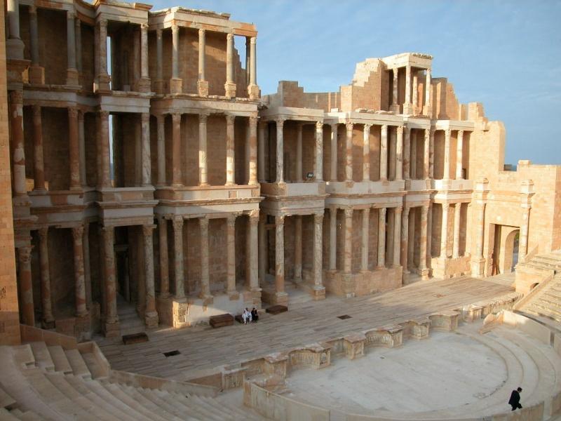 Théatre antique de Sabratah (Lybie) Sabrat13