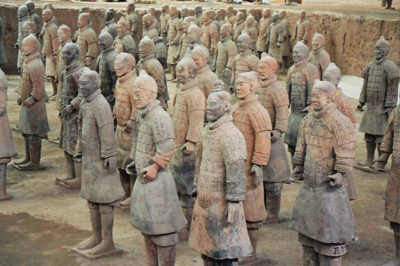 L'armée en terre cuite de Xian (Chine) Xian210