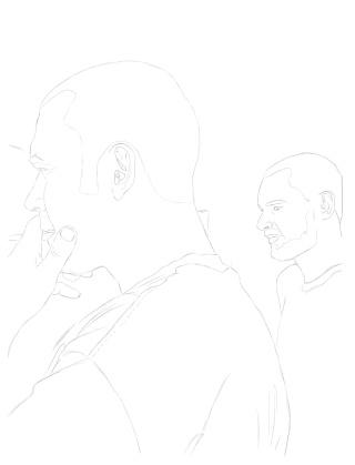 évolution d'un dessin...(Chris et mateo) dans portrait trace10