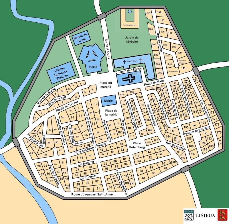 Plan de la ville et des logis de lisieux for Piscine lisieux