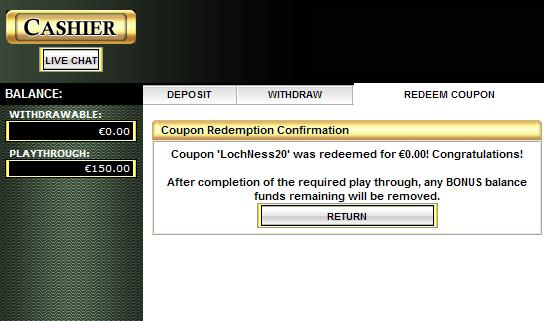 Online Casino No Deposit Coupon Codes 2013.