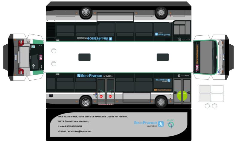 Transport mobilit urbaine afficher le sujet cr ations paper bus car bus - Dessiner un bus ...