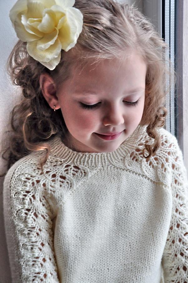 ажурный пуловер для девочки спицами схемы