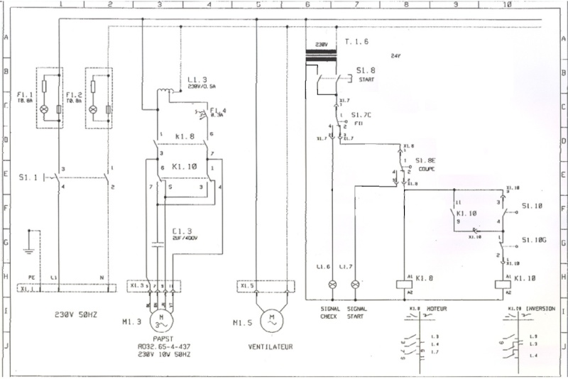 moteur monophas u00e9 inversion sens de rotation