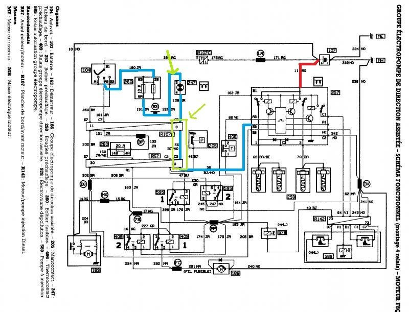 schema electrique prechauffage clio 1 9d